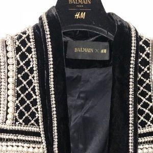 Balmain x H&M embellished beaded Blazer